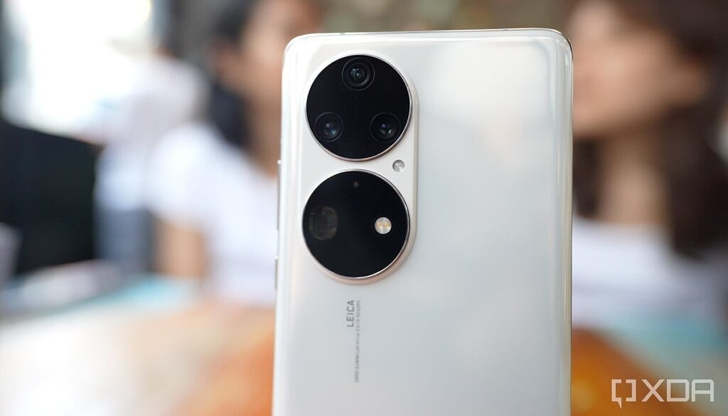 Huawei P50 Pro's camera module housing a quad camera system