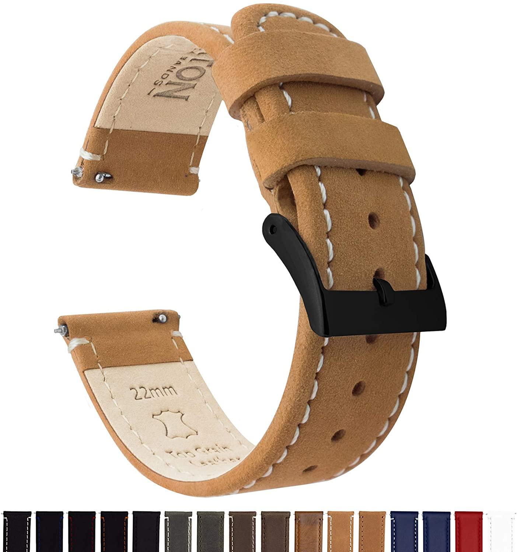 Barton Top Grain Leather Watch Band Strap