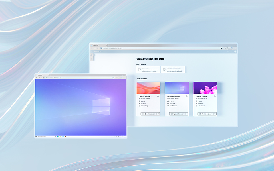 Windows 365 running in multiple windows