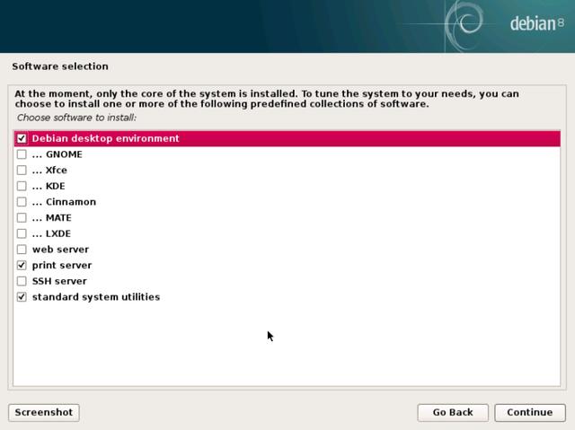 debian install desktop environment