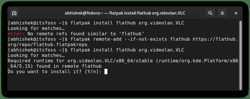 flatpak no remote ref problem fixed