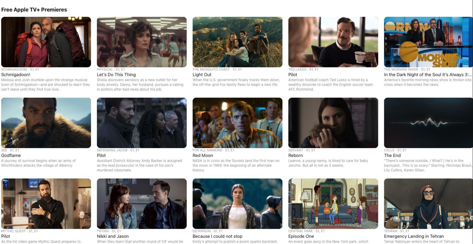 Free Apple TV Shows