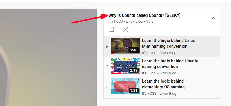getting youtube playlist url