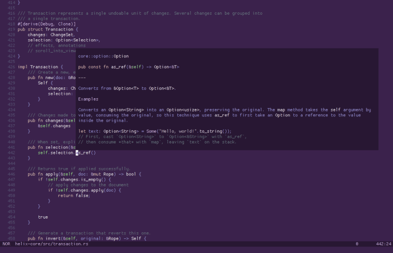 helix editor screenshot