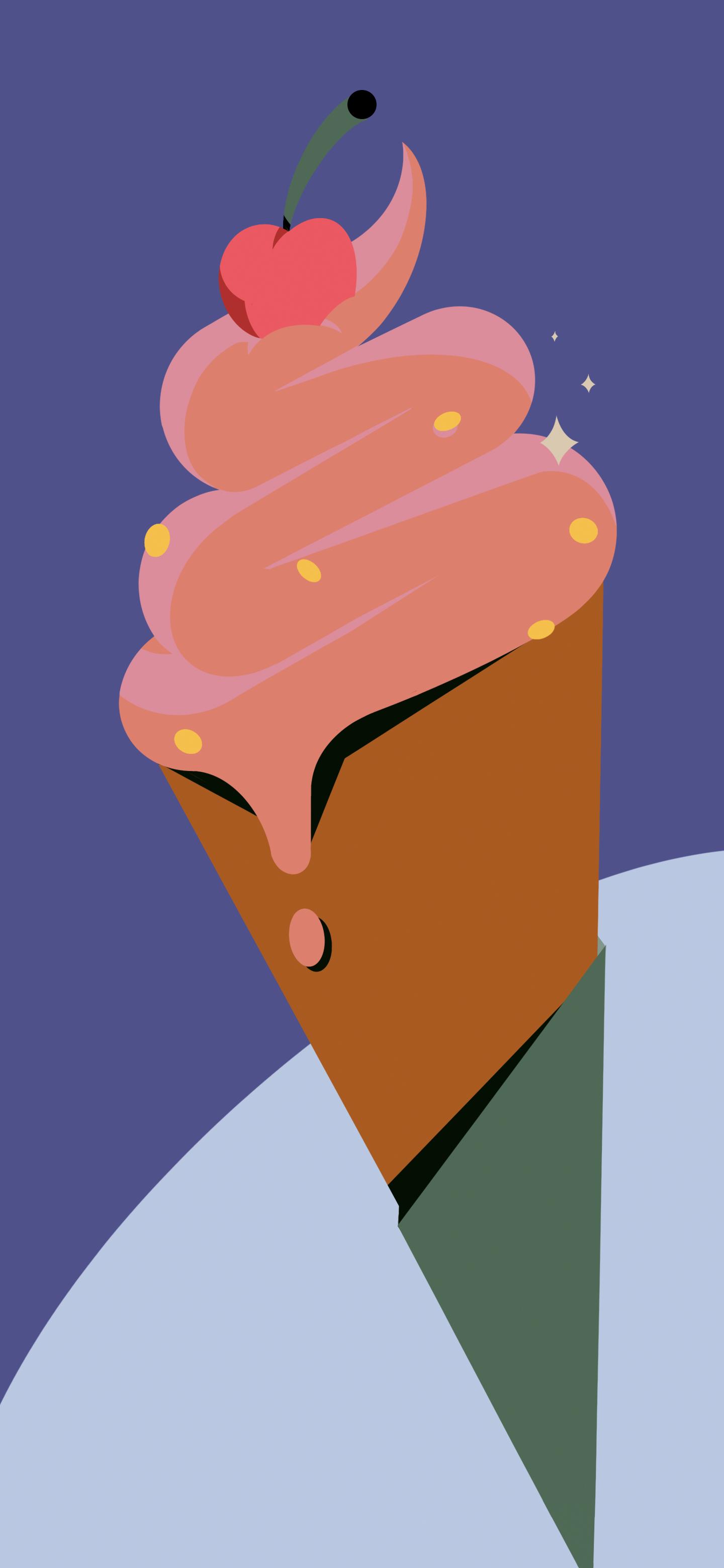 Cherry Cone Pixel 6 Wallpaper