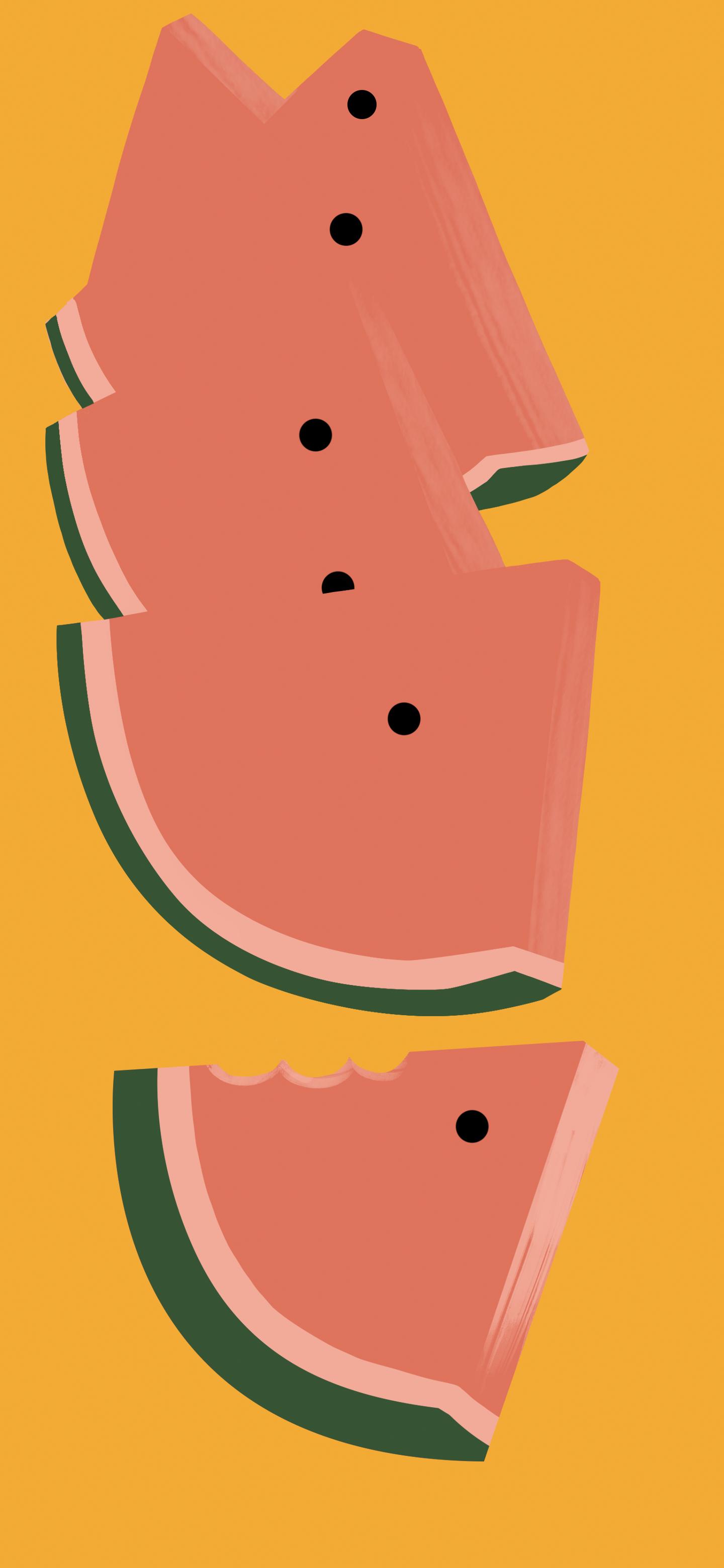 Watermelon Falls Pixel 6 Wallpaper