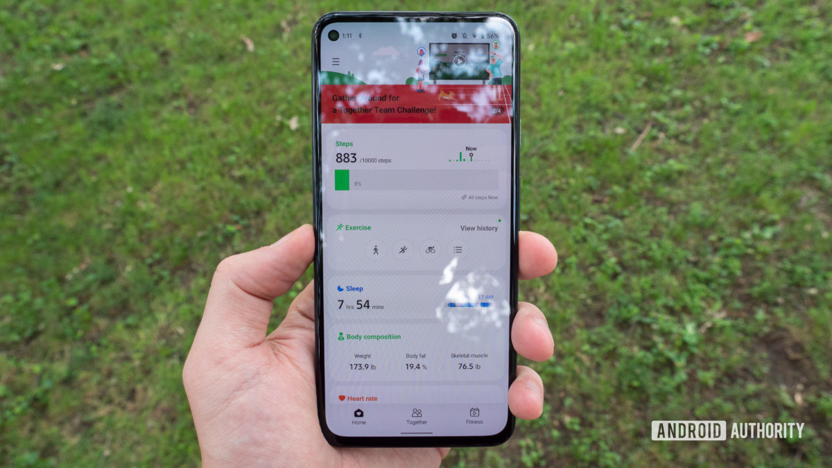samsung galaxy watch 4 review samsung health app home screen