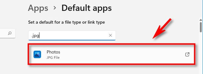 Click the file type you'd like to change.