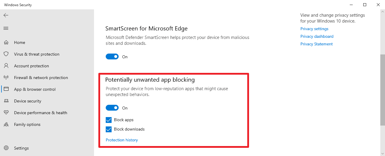 windows-10-potentially unwanted app blocking