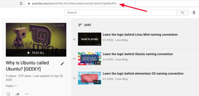 youtube playlist url