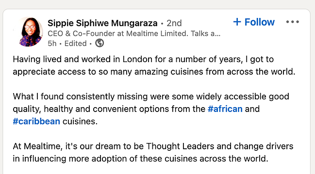 Thought leadership content to drive traffic featuring Sippie Siphiwe Mungaraza