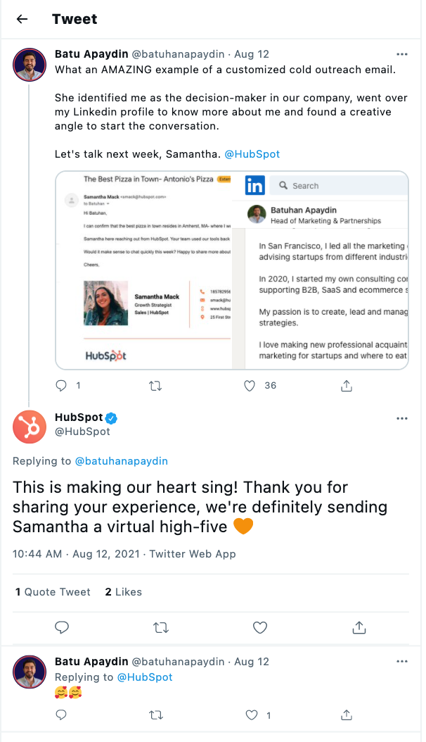 HubSpot using organic social media to drive traffic to their website