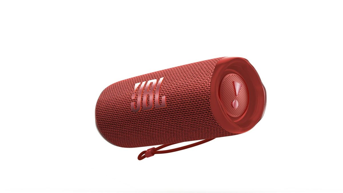 The JBL FLIP 6 in red against a white background.