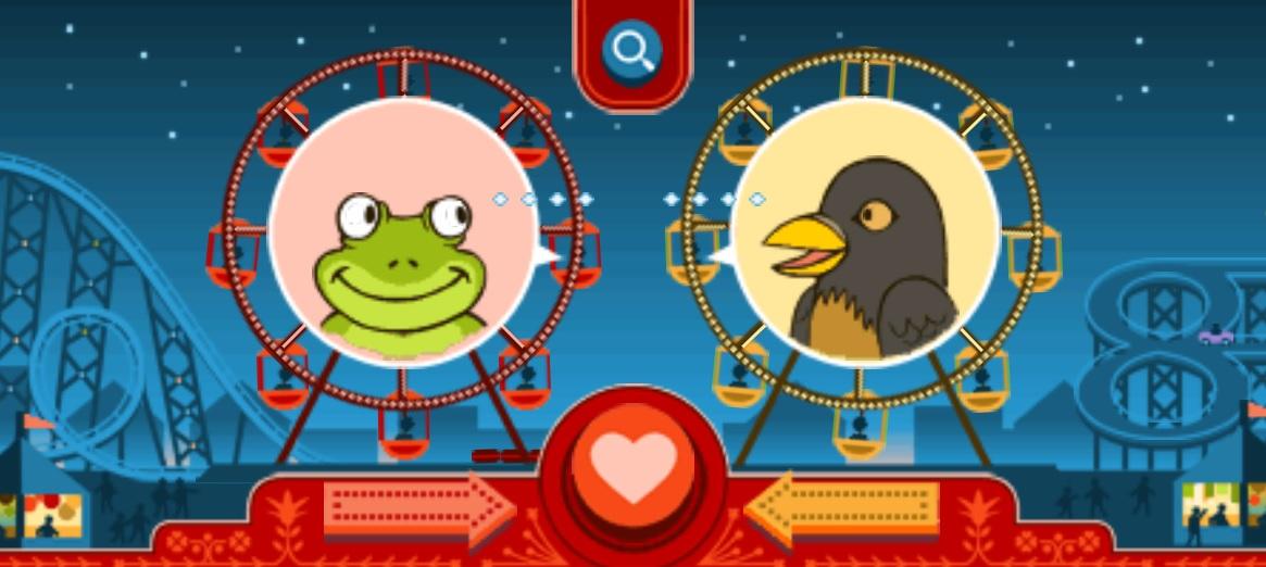 google doodle valentine's day ferris wheel