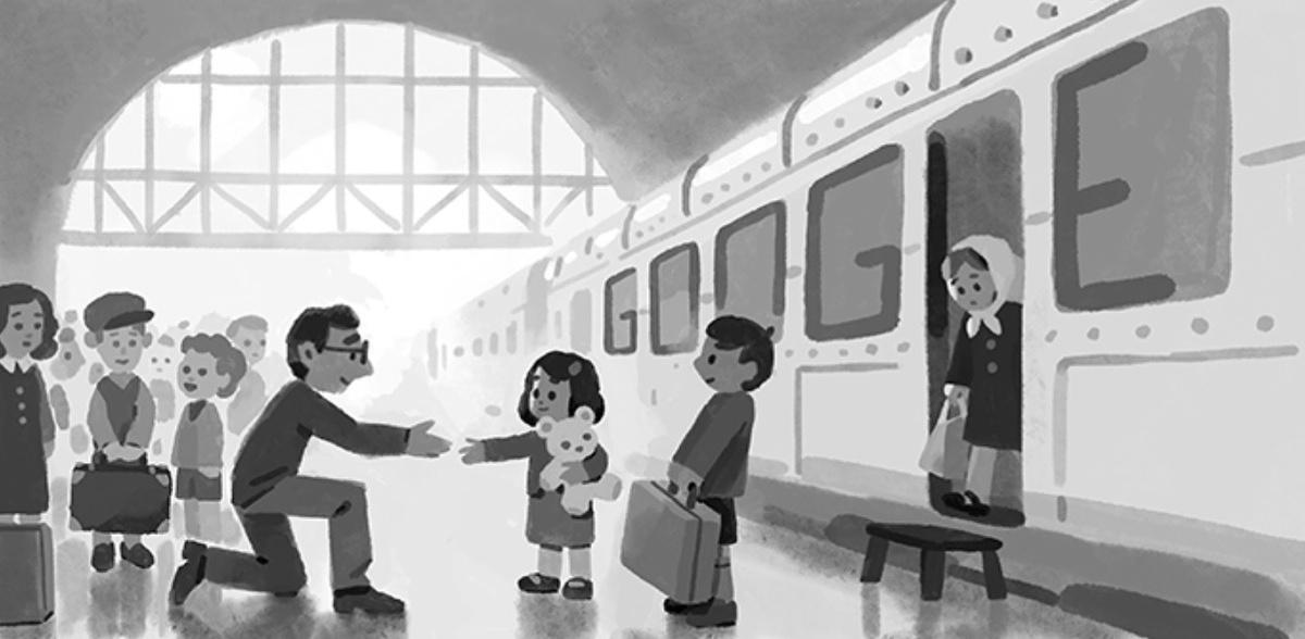 google doodle honoring nicholas winton