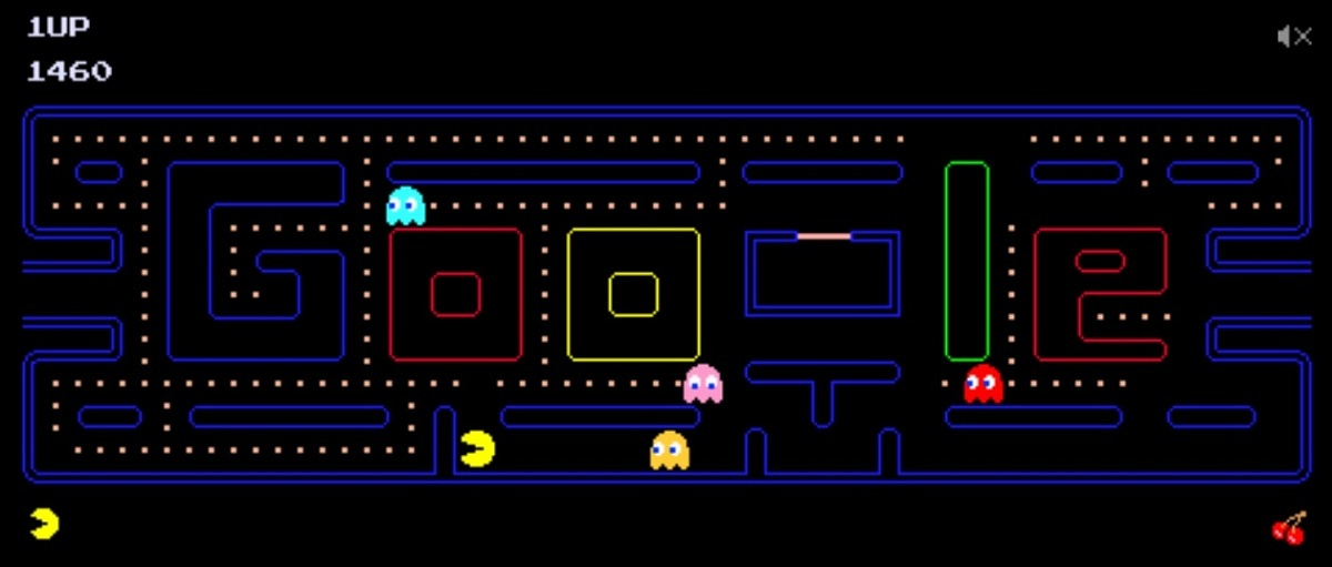 google doodle pac man game