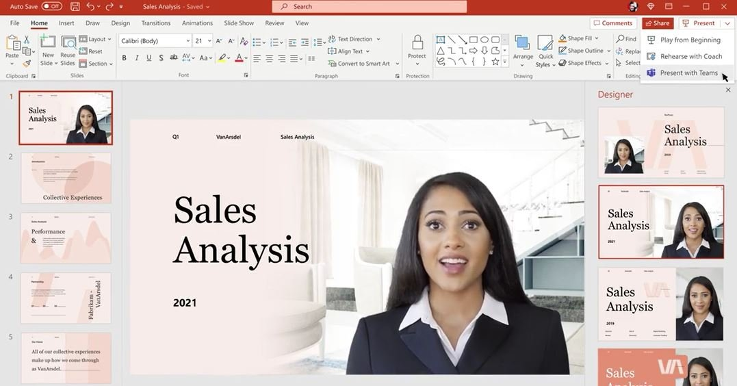 Microsoft PowerPoint Cameo feature