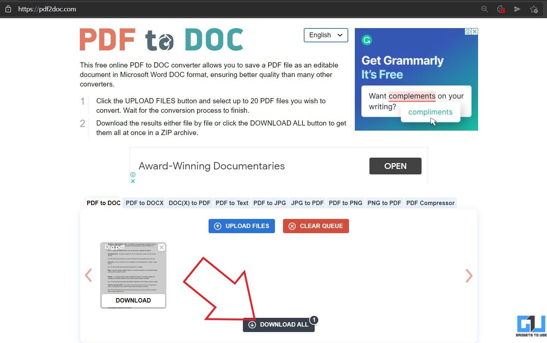 PDF to Doc Online