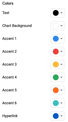 Choose the theme Colors