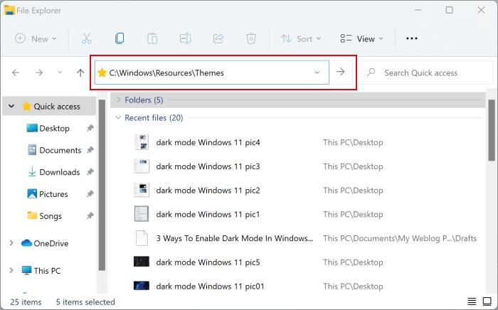 dark mode Windows 11 pic6