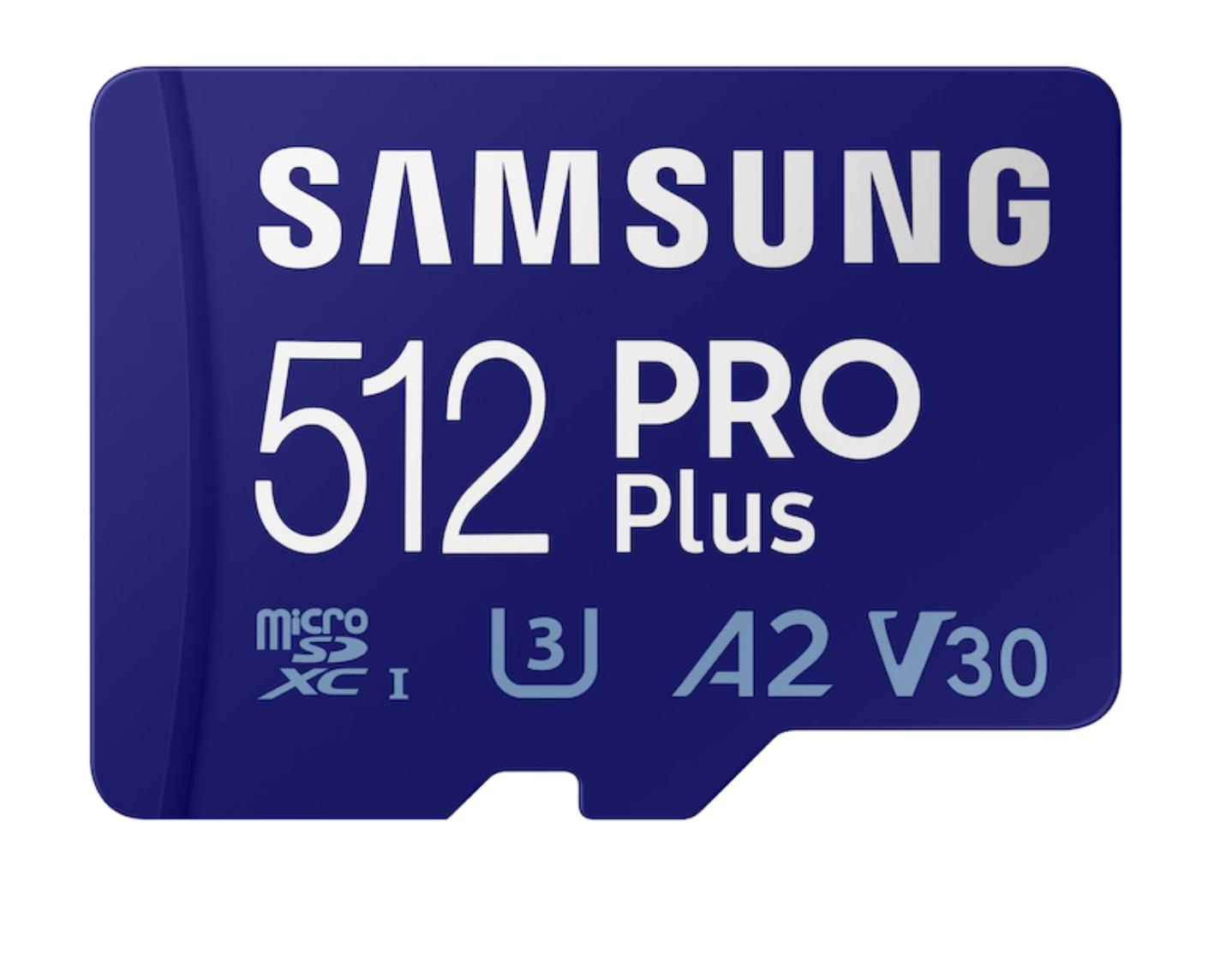 Samsung EVO PRO Plus microSDXC Card + Adapter