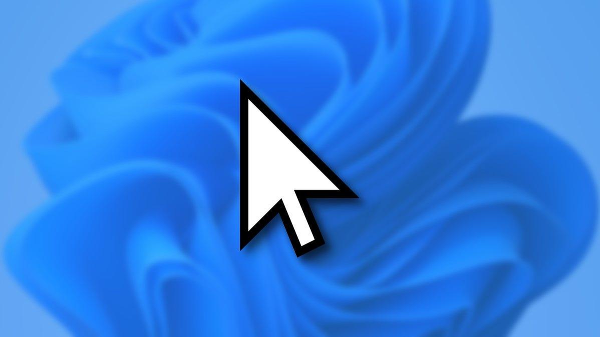 Windows 11 Mouse Cursor on a Blue Background